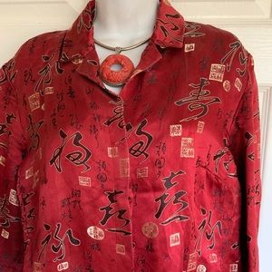 REDUCED❤️💜💚CHICO'S silk blend blouse
